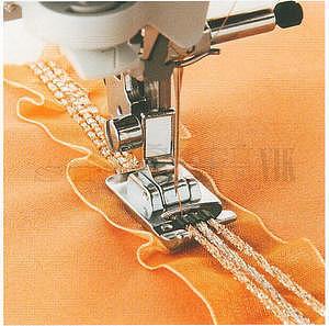 Patka pro našívání textilních tkanic (7 mm)