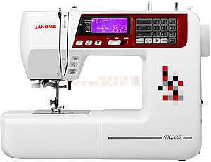JANOME 607 TXL šicí stroj + přídavný stůl (40x28cm - 1