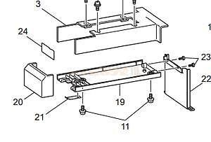 Kryt hřídele chapače PR655 XC5587052
