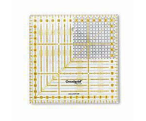 Pravítko pro patchwork Omnigrid 15x15 cm - 1