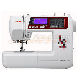 JANOME 607 TXL šicí stroj + přídavný stůl (40x28cm - 2