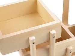 Kazeta na šití dřevěná rozkládací M - 3