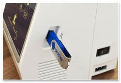 nahrávání vzorů přes USB-flash disk